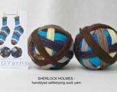 SHERLOCK HOLMES – hand-dyed self-striping sock yarn, fingering weight