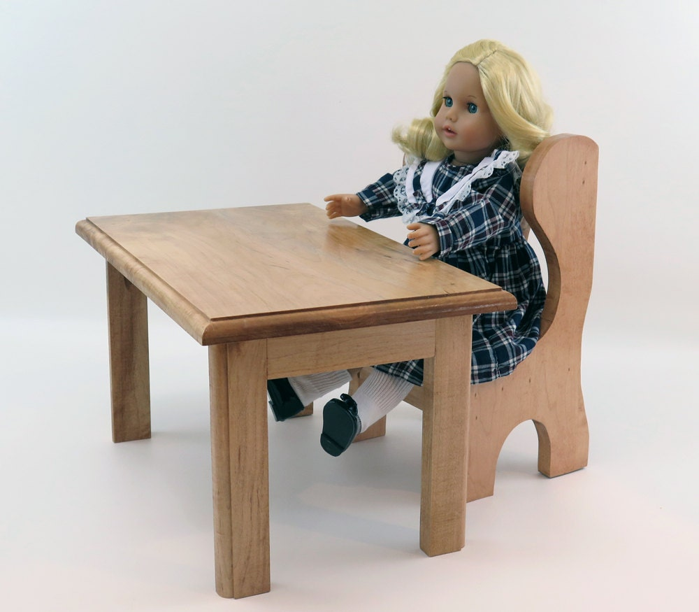18 Inch Doll Furniture School Desk Table And Chair