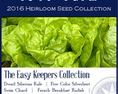 The Easy Keepers Collection - Heirloom, non-GMO Seed Collection