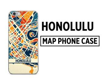 Honolulu Map Phone Case - Honolulu iPhone Case - iPhone 6 Case - iPhone 5 Case - iPhone 7 Case