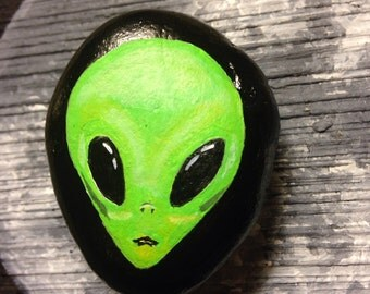 Painted Rock ALIEN PAPERWEIGHT