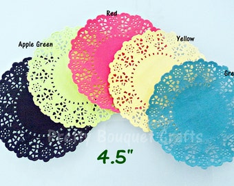 """French Lace Paper Doilies 4.5""""