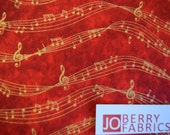Reserve Listing for REBECCA for 2 Yards of Music Themed Fabric, Music Notes Fabric, by Kensington Studio for Quilting Treasures.