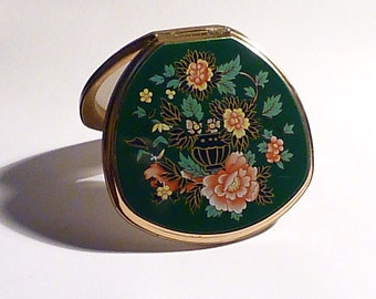 """Gifts for her vintage powder compacts vintage Stratton """" Shell - Convertible """" compact powder poudrier compact pocket mirror"""