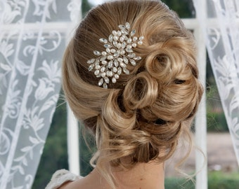 Freshwater pearl and diamante bridal comb
