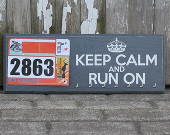 Race Bib and Medal Holder - Keep Calm and Run On