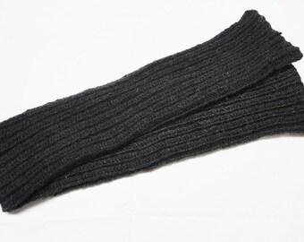Legwarmers Leg warmers handknitted darkgrey Vegan