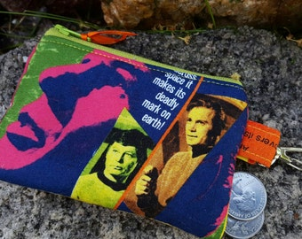 Coin Pouch,  Movie Zipper Wallet, Sci-Fi Coin Purse