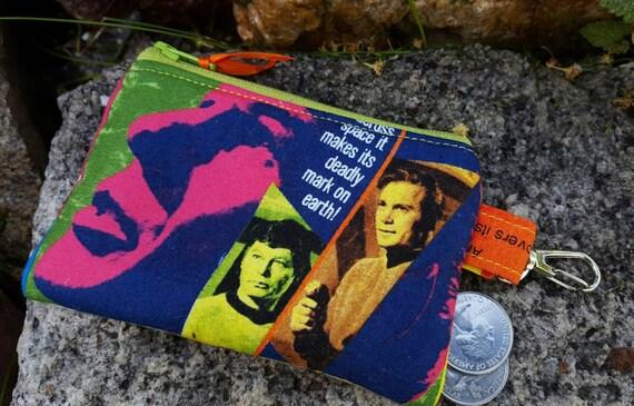 Coin Pouch,  Movie Zipper Wallet, Sci-Fi Coin Purse