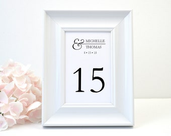 PRINTED Elegant  Wedding Table Number, Black, Modern, Elegant, Script, Simple, Pretty, CELEBRATE Design