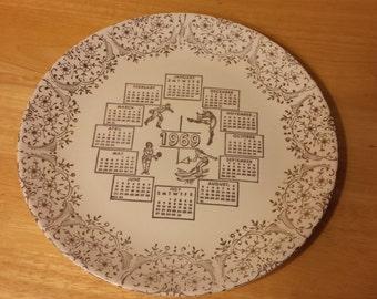 1969 Calendar Plate