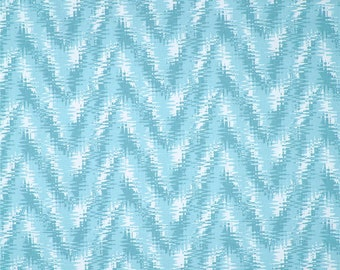 Rhodes Coastal Blue Premier Prints Fabric - One Yard - Blue and White Home Dec Fabric