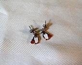 Tiny Girls penguin earrings, Christmas earrings,  1/2 inch, 1990s vintage earrings, gift for her, Christmas gift for girls