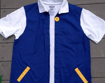 Child Sz 8    - POKEMON Trainer Costume - ASH Ketchum  Cosplay  Jacket Only