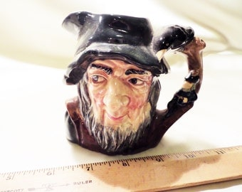 VINTAGE-ROYAL DOULTON Rip Van Winkle Toby Jug 1954 with Name on the Back