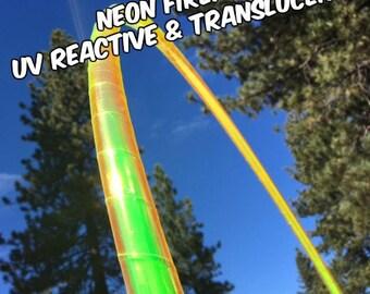 UV Neon Fire Fly Specialty Taped Practice Hoop By Colorado Hoops