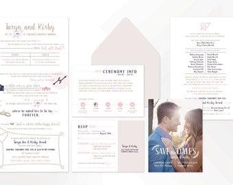 Printable Wedding Invitation Suite, Inforgraphic