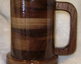 Medium Walnut 20 ounce Tankard Mug