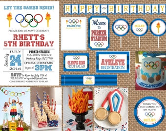 OLYMPICS + GAMES + MEDAL // Birthday + Baby Shower + Summer Invitation // multiple styles: Full Service Printing + Coordinating Items
