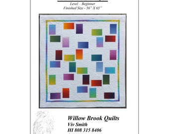 "Pattern ""Random 1"" Quilt Pattern by Willow Brook Quilts (WBQ247) Paper Pattern"