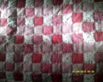 Beautiful HAND MADE Cot QUILT
