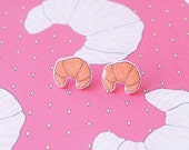 Earrings: Croissant Stud Earrings