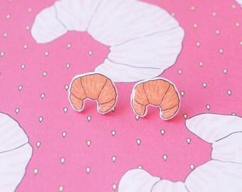 Earrings: Croissant Stud Earrings