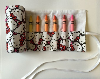 Hello Kitty Crayon Roll Up