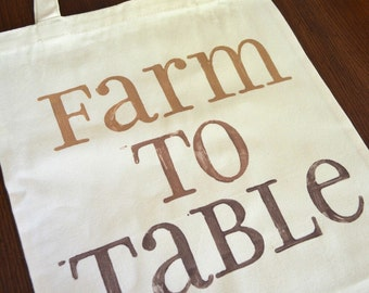 Canvas Tote - Farm To Table - Browns