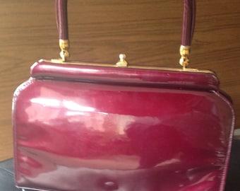 Vintage Mod Handbag Burgundy