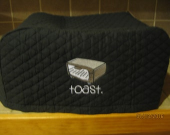 Toaster Oven Appliance Cover, Choose Black, Red, Hunter Green or Cream Color