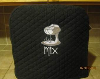 Mixer cover, 4 sizes, 3 Colors  & 2 designs to choose from,  Will fit most Kitchen Aid mixers, including the New MINI