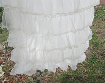 Sheer White Ruffled Curtain Household Decor Curtains Bedroom Dining Room Kitchen Sitting Room