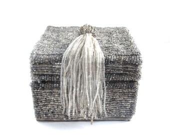 Jewellery Box - Bead Box - Square - Decorative Box - Trinket Box - Vintage