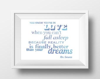 Dr. Seuss- Love Quote - Illustration- Ink- Drawing - Art
