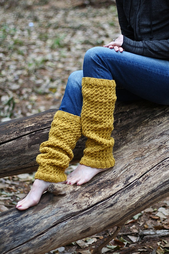Long Leg Warmers Knitting Pattern - DIGNITY - a set of INSTRUCTIONS to knit the leg warmers