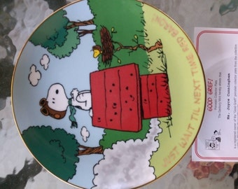 Good Grief Magic Moments Peanuts Collectible Plate