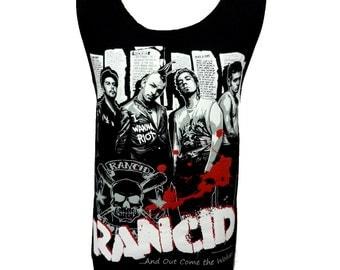 RANCID Punk Rock Band Music Metal Skull T Shirt Tank Top Singlet Vest Size M