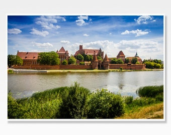 Castle Photo Print, Castle Print, Castle Photograph, Malbork Photograph, Malbork Print, Poland Photography, Poland Photo, Polish Wall Art