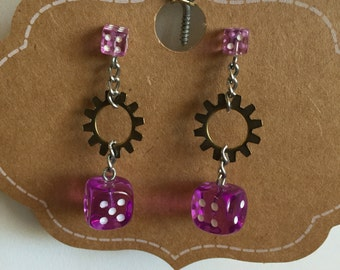 E0013-52 Steampunk Earrings