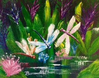 Dragonfly ORIGINAL Acrylic Painting