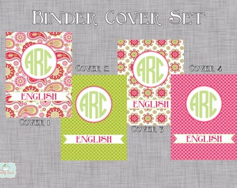 Spring Paisley Personalized Binder Cover Set