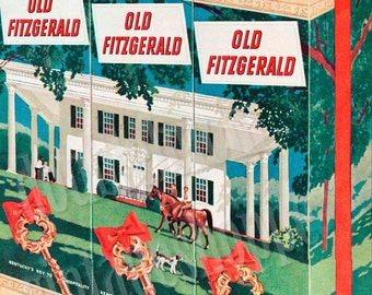 "1951 Old Fitzgerald Bourbon Vintage Ad // Old Liquor Ads // 10"" x 13"""