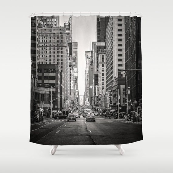 New york city shower curtain nyc bath decor nyc shower for New york city bathroom decor