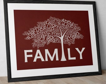 Personalized Family Tree Print FF1620F