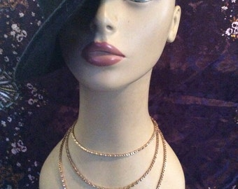 Gold tone chain 54 in