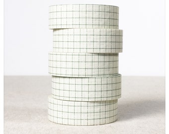 PRE ORDER: (AUG delivery) Green Grid Washi Tape - Classiky - Various Widths