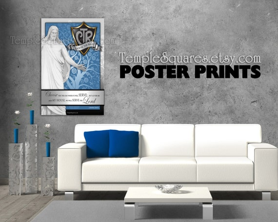 POSTERS - Large Printed Posters! LDS Primary 2017 Theme CTR Choose the Right. Joshua 24:15  Archival Ink Fine Art Poster Prints