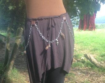 Pixie Boho Tribal Asymmetrical Psy Trance, Festival Skirt, Strange Invitations Were Often Dancing Lessons From The Goddess.