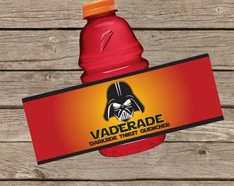 Star Wars Darth Vader Vaderade Label